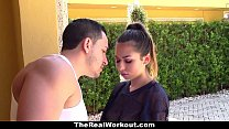 TheReaLWorkout - Slutty Brunette Gets Fucked To Make The Team's Thumb