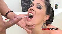 Huge butt Montse drinks pee (piss drinking anal threesome) SZ584