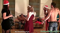 Euro teen spitroasted during xxxmas sexparty