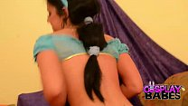COSPLAY BABES Princess Jasmine cums solo