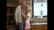 Horny Old Daddy  And Blonde Daughter ghter