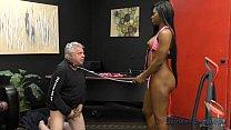 Jasmine Webb makes an Old White Pervert Lick Her Ebony Ass and Feet thumbnail