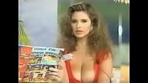 Deborah Caprioglo Italian Celeb Nipslip At TV Show!
