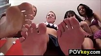 Four Sluts Teasing Their Feet Point Of View's Thumb