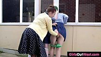 Hairy schoolgirls have sex with headmistress preview image