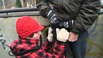 teen gets fucked by grandpa in public video