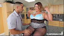 13540 Big Booty Latina BBW Wears Stocking and Fucks in Kitchen preview