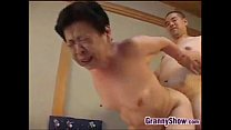 Japanese Grandma Giving A Great Blowjob's Thumb