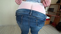 I came to visit my girlfriend, and she fucked me with a strapon, milf in white panties doggystyle shaking a big butt. preview image