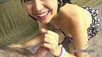 Japanese babe Yuka Ozaki is giving a point of view blowjob Image