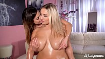 Busty lesbians Chloé and Krystal Swift have a hot massage experience