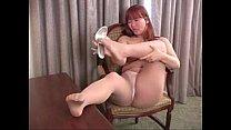 Jan in her sheer tan pantyhose pornhub video