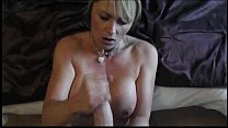 Fabulous cum on tits handjob