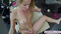 Tight blonde slut nailed by pawn man at the paw... thumb