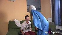 Image: We surprise Jordi by gettin him his first Arab girl! Skinny teen hijab