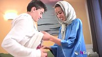 10497 We surprise Jordi by gettin him his first Arab girl! Skinny teen hijab preview