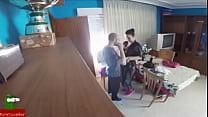 una mujer viuda se hace la enferma para que el doctor venga a casa y poder comerse su polla GUI114 image