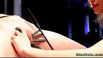 tuboitaliano com ⁃ Blonde in device bondage spanked and fucks machine thumbnail