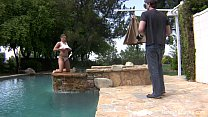 Natasha Nice Outdoor Wet By The Pool
