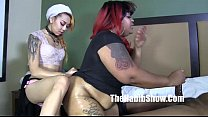 phat booty bbw ms giggles banged by lil kim chi and henesey صورة