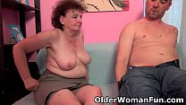 Chubby grandma enjoys his cock in her mouth and pussy pornhub video