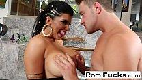 Romi Rain makes Van's dick spooge all over her ...
