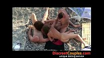 Image: Swingers on the beach caught on hidden camera