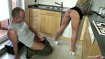 GERMAN WIFE SEDUCE THE REPAIRMAN TO FUCK HER AS...