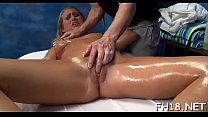 Girl next door facialed by her masseur