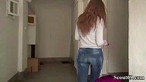 German Scout - Schmale Maus Tiffany Tatum fuer Geld gefickt Vorschaubild