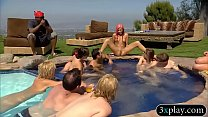 Horny swingers wild party and had oral sex by t...