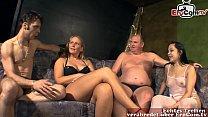 German amateur swinger party with normal women from next door