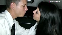 Tight teen babe fucked in the limousine
