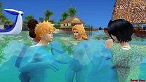 Bleach En La Playa Rukia Follada Por Renji Fuer