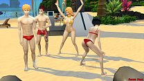 Bleach En La Playa Rukia Follada por Renji Fuertemente Anime Hentai Parodia صورة