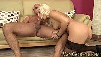 beautiful blonde anal sex and cumshot with big cock Vorschaubild