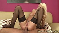 beautiful blonde anal sex and cumshot with big cock