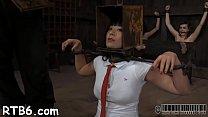Master Is Torturing Babe's Cum-hole