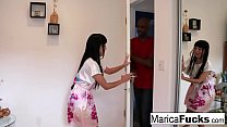 Marica gives a customer a nice full body massage