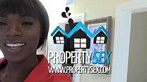 PropertySex - Beautiful black real estate agent interracial sex with buyer