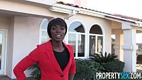 Image: PropertySex - Beautiful black real estate agent interracial sex with buyer