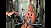BBW blonde needs to suck dick in gym before mcdonalds