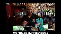 Gorgeous blonde bartender is talked into having sex at work thumbnail
