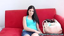 teen sitter creampied ~ street downblouse thumbnail
