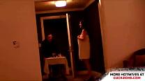 Slutwife teasing a roomboy