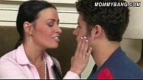 Massive tits stepmom Vanilla Deville 3way with naughty teens