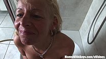 Mature Blonde Shaving Her Snatch And Blows Cock video