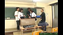 Konomi Adachi and gal get vibrators on crack an...