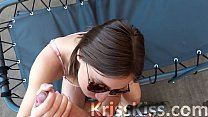 Teen Sucking Big Dick and Cum in Mouth - Outdoor Blowjob صورة