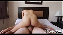 Lustful little cutie loves it rough in various positions